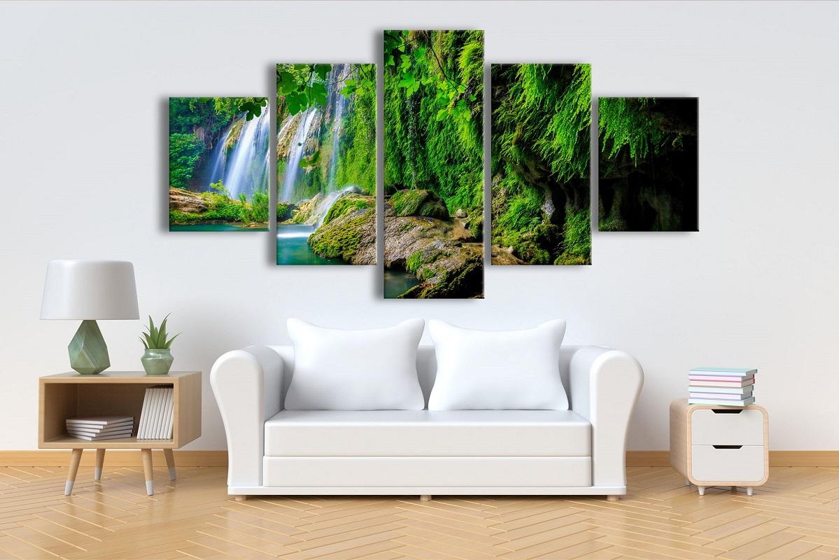 תמונת קנבס יער טרופי 5 חלקים