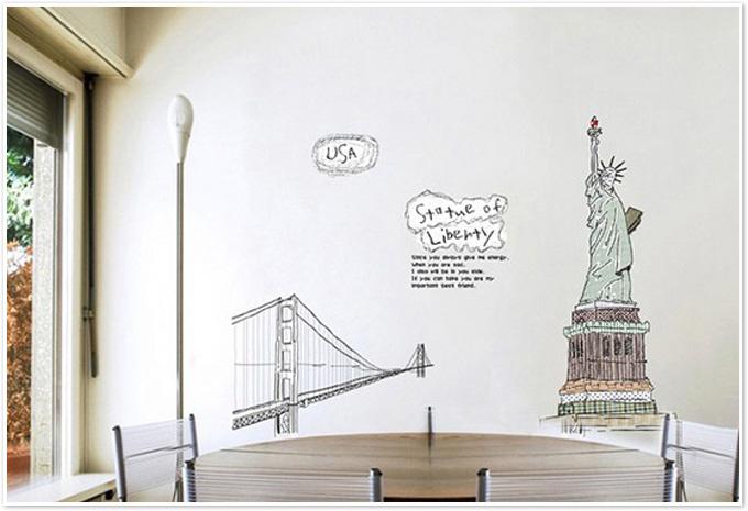 מדבקת קיר פסל החירות