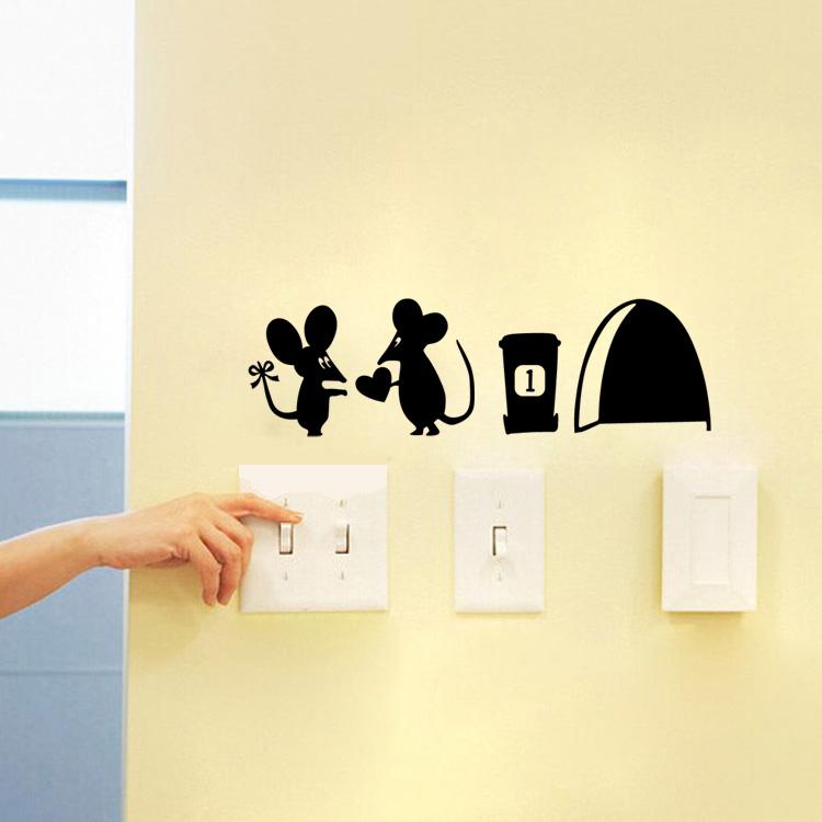 מדבקת קיר עכברים