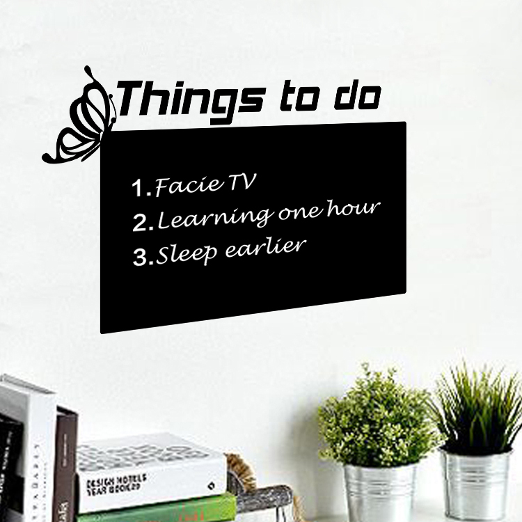 מדבקת קיר לוח גיר  דברים שצריך לעשות
