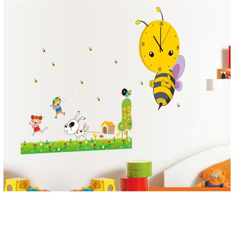 מדבקת קיר שעון דבורה