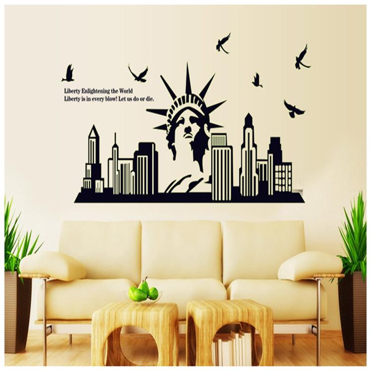 מדבקת קיר ניו יורק פסל החירות זוהר בחושך