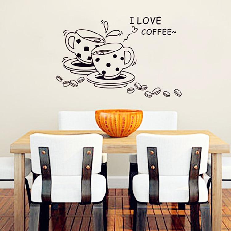 מדבקת קיר ספליי קפה
