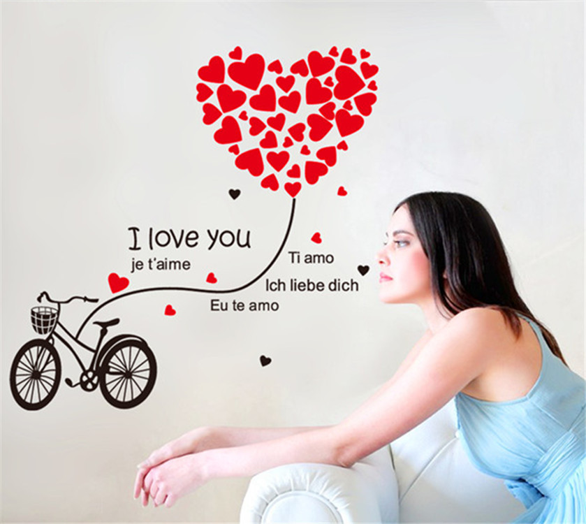 מדבקת קיר אופניים