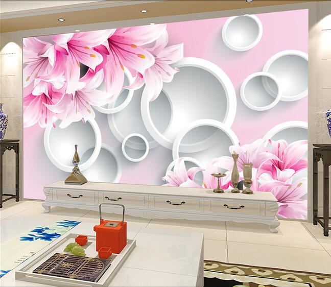 תמונת טפט פרחים ועיגולים