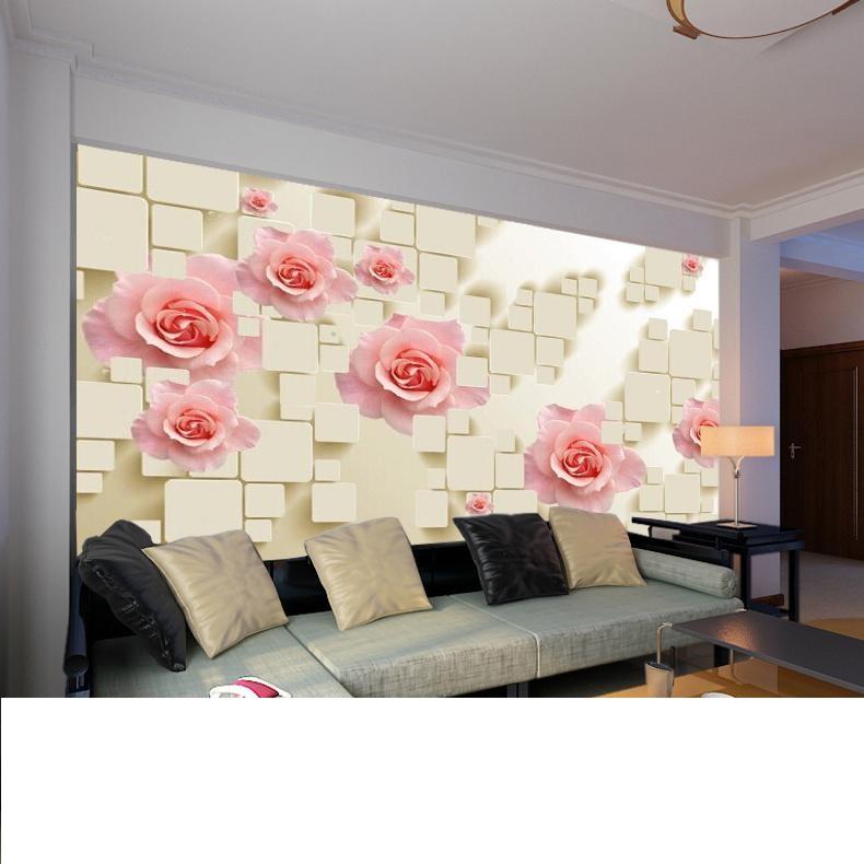 תמונת טפט פרחים ורודים תלת מימד