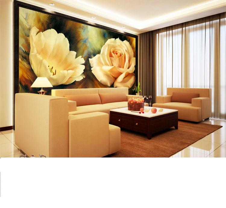 תמונת טפט פרחים גדולים תלת מימד