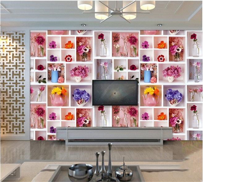 תמונת טפט אגרטליי פרחים תלת מימד