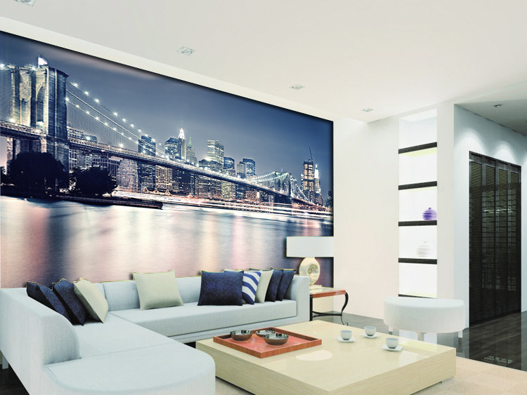 תמונת טפט גשר בניו יורק תלת מימד