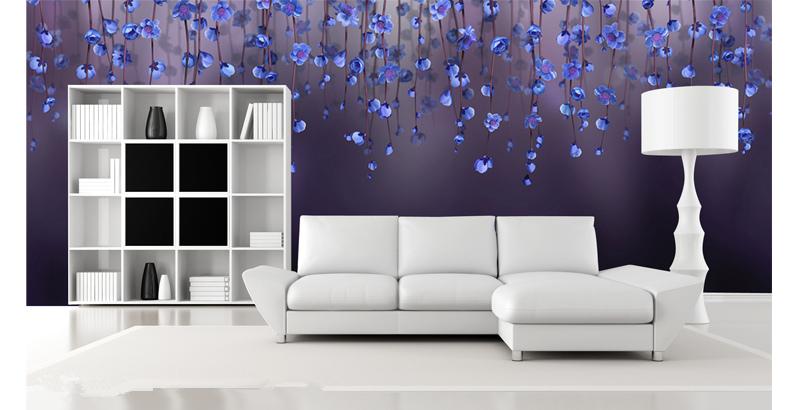 תמונת טפט פרחים כחולים