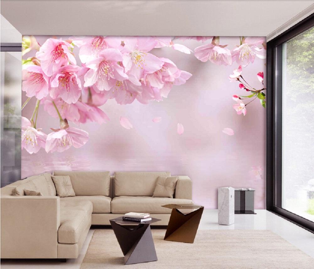 תמונת טפט פרחים ורודים ורוד תלת מימד