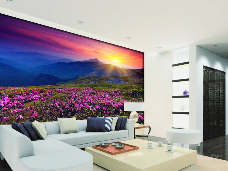 תמונת טפט נוף פרחים תלת מימד