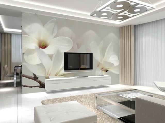 תמונת טפט פרחים לבנים