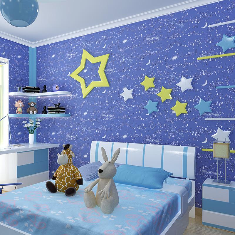 טפט ירח וכוכבים זוהר בחושך