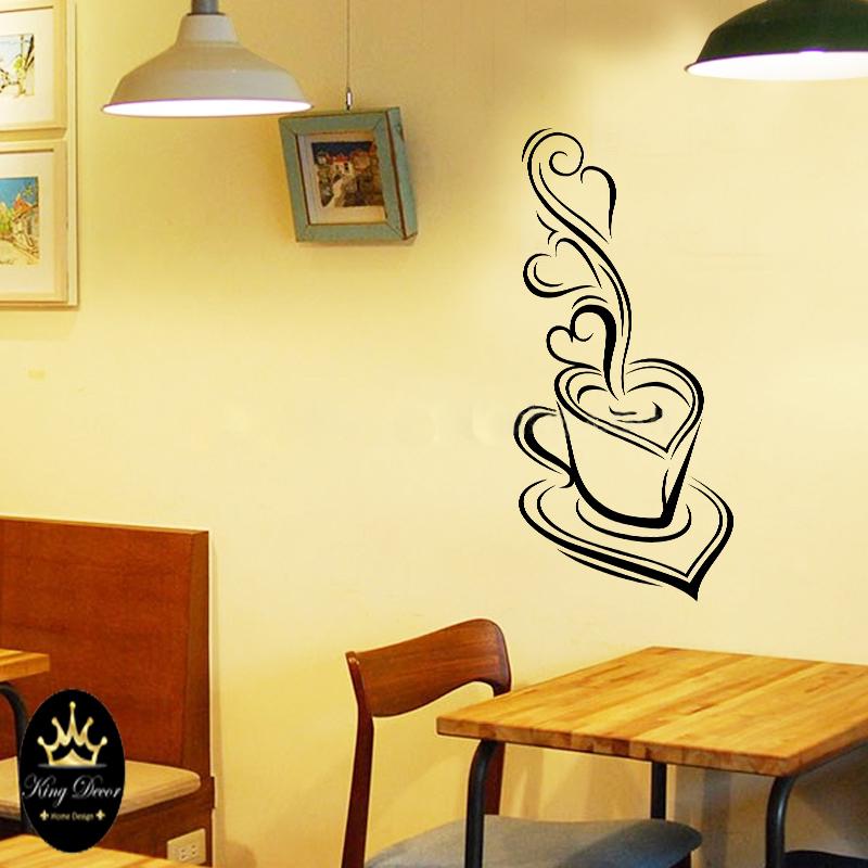 מדבקת קיר ספל קפה