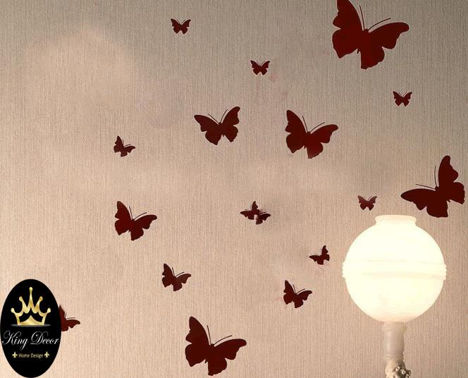 מדבקת קיר פרפרים