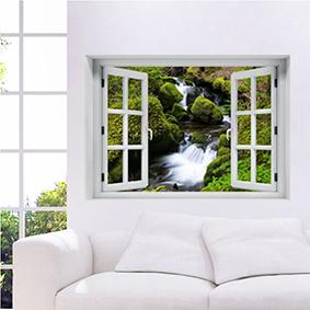 חלון תלת מימד נוף לטבע