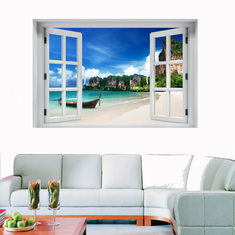 חלון תלת מימד נוף תאילנד
