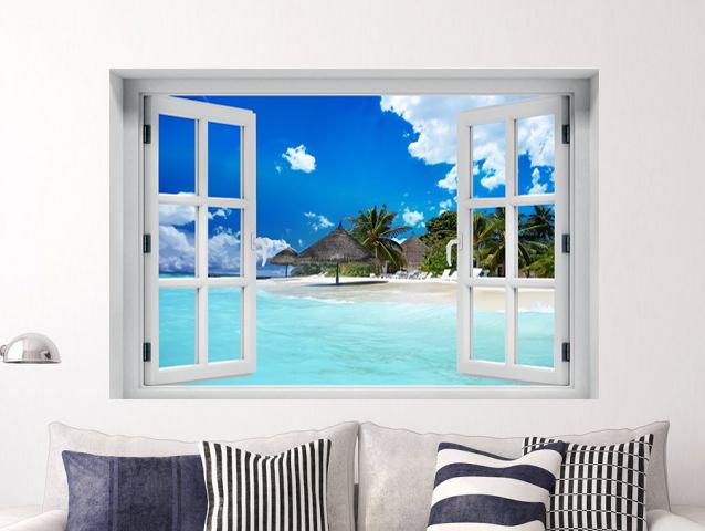 חלון תלת מימד אי טרופי קסום