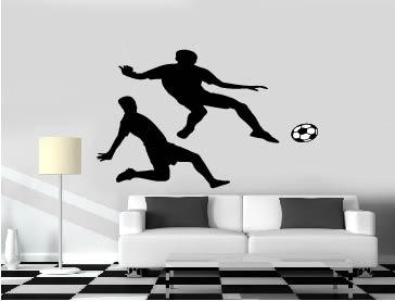 מדבקת קיר שחקני כדור רגל במבחר צבעים