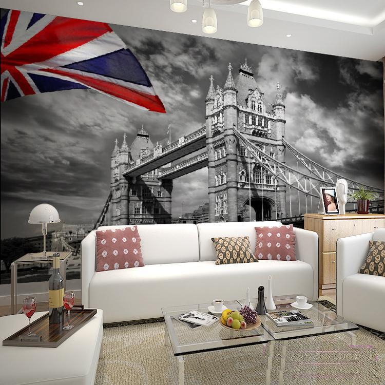 תמונת טפט לונדון שחור לבן