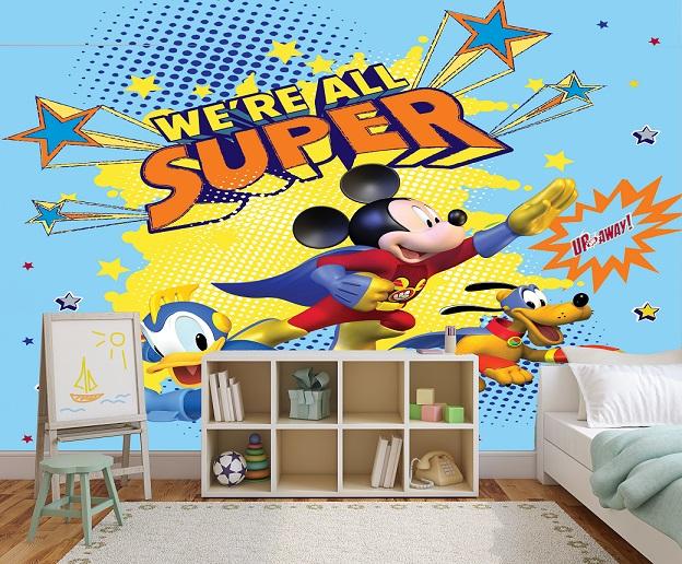 תמונת טפט סופר מיקי מאוס לחדרי ילדים