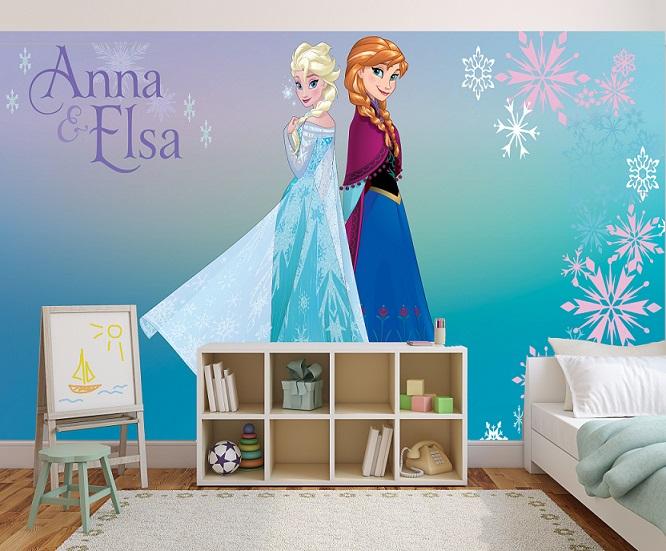תמונת טפט אנה ואלזה לחדרי ילדים