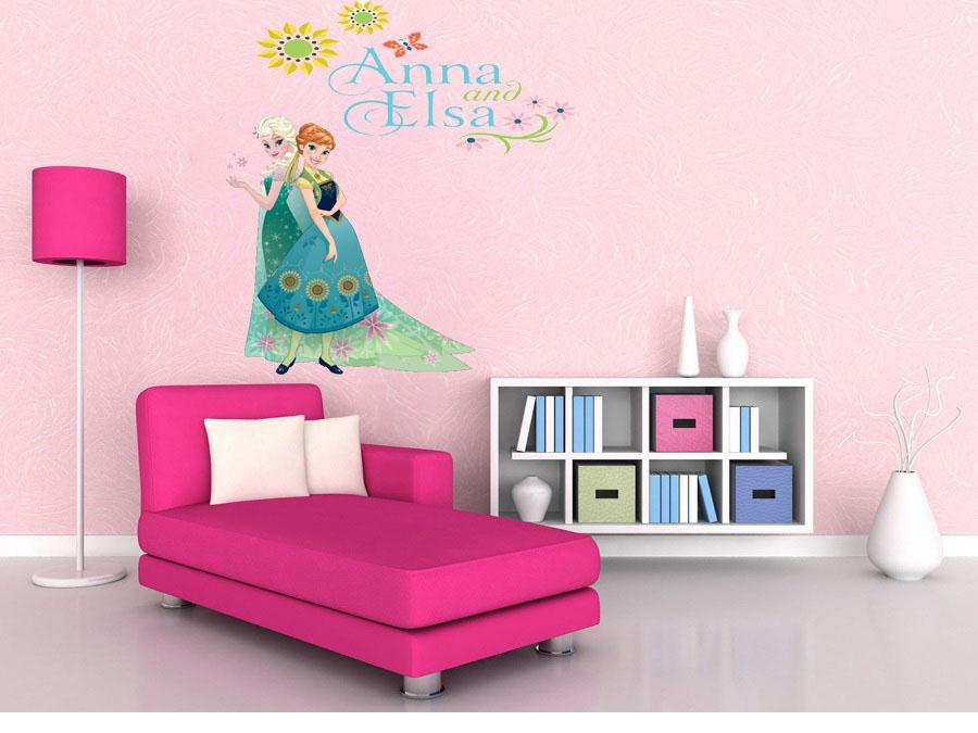 מדבקת קיר אנה ואלזה