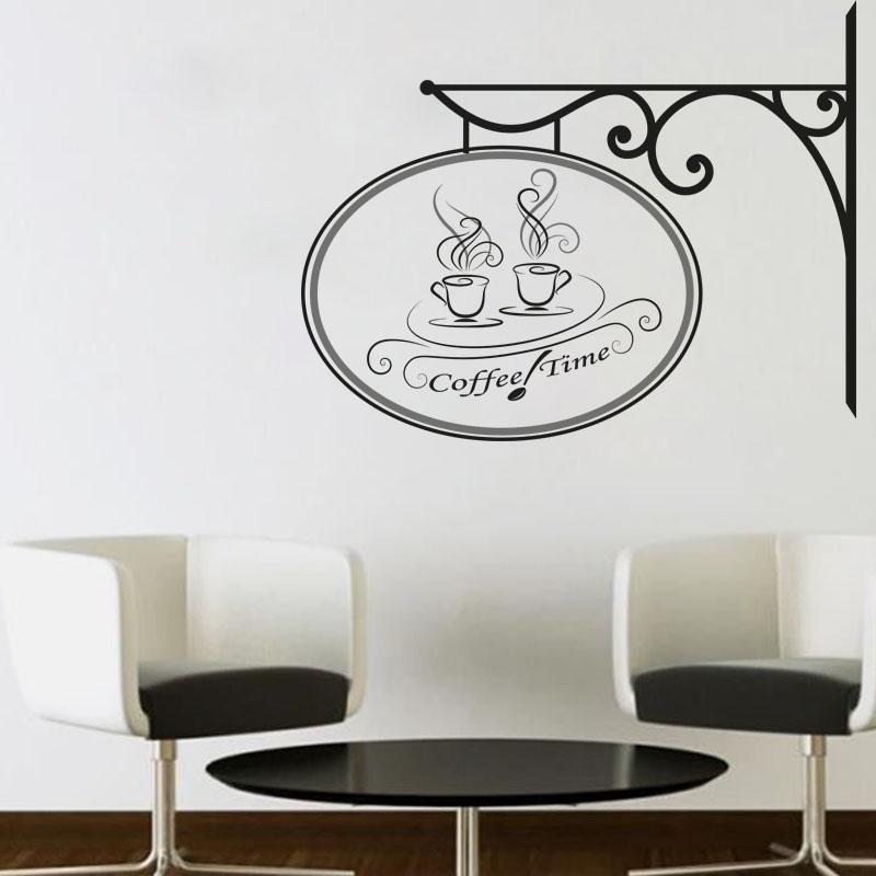 מדבקת קיר זמן לקפה