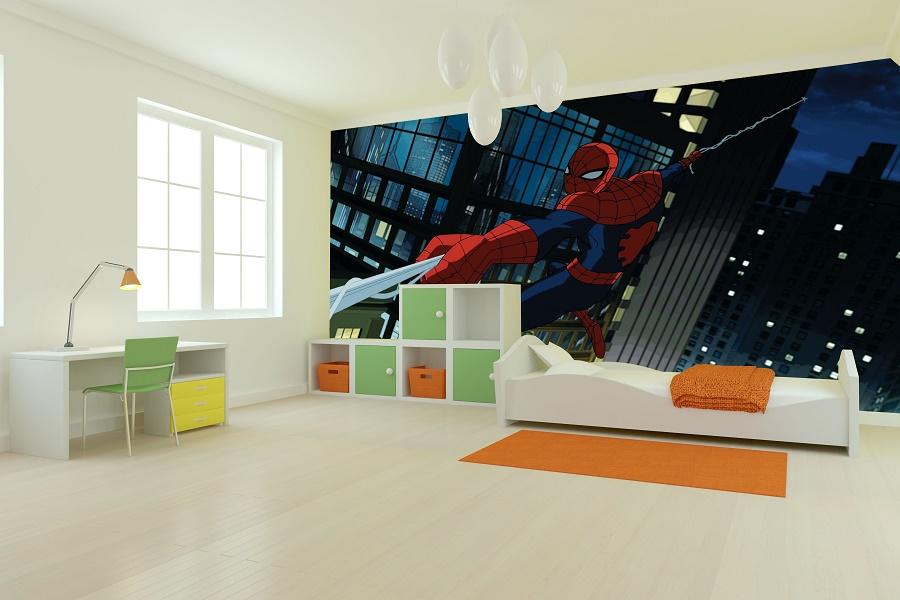 תמונת טפט ספיידרמן בלילה לחדרי ילדים