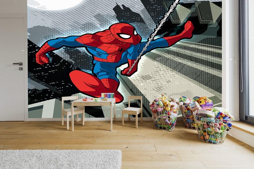 תמונת טפט ספיידרמן בפעולה לחדרי ילדים