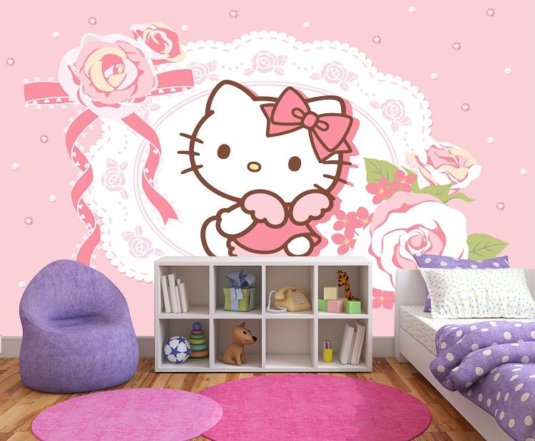 תמונת טפט הלו קיטי לחדרי ילדים