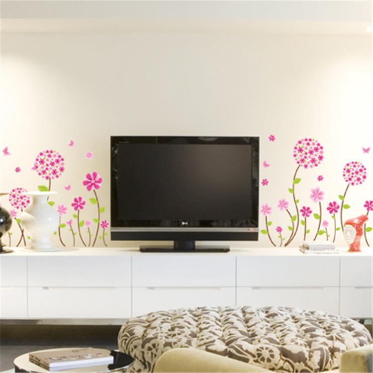 מדבקת קיר פרחים