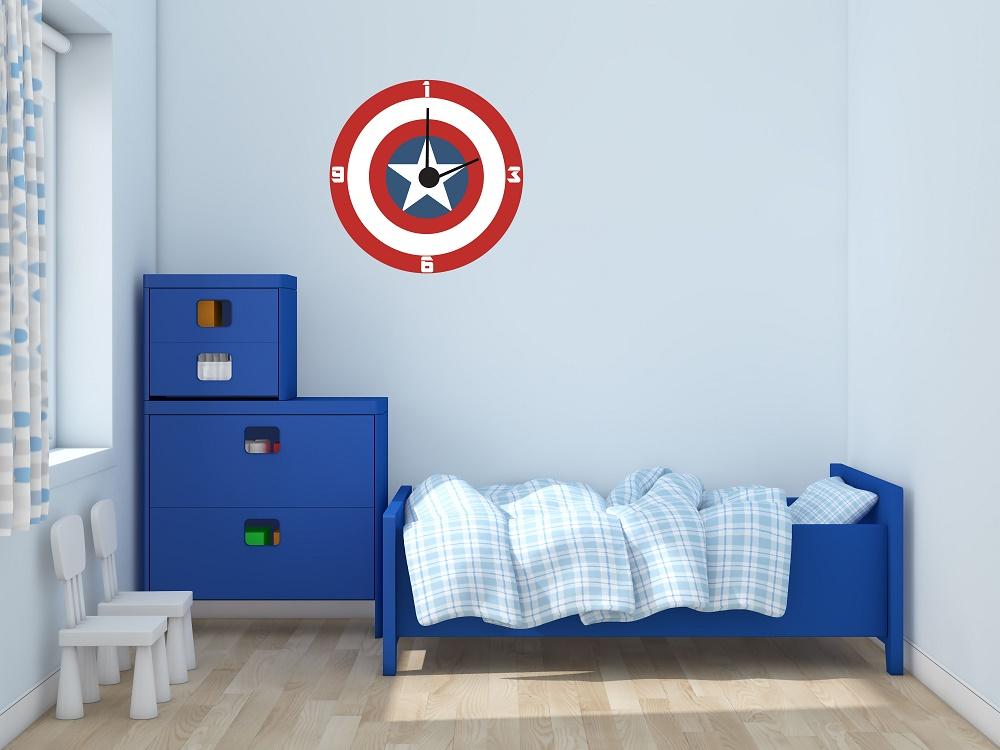 מדבקת קיר שעון קפטן אמריקה
