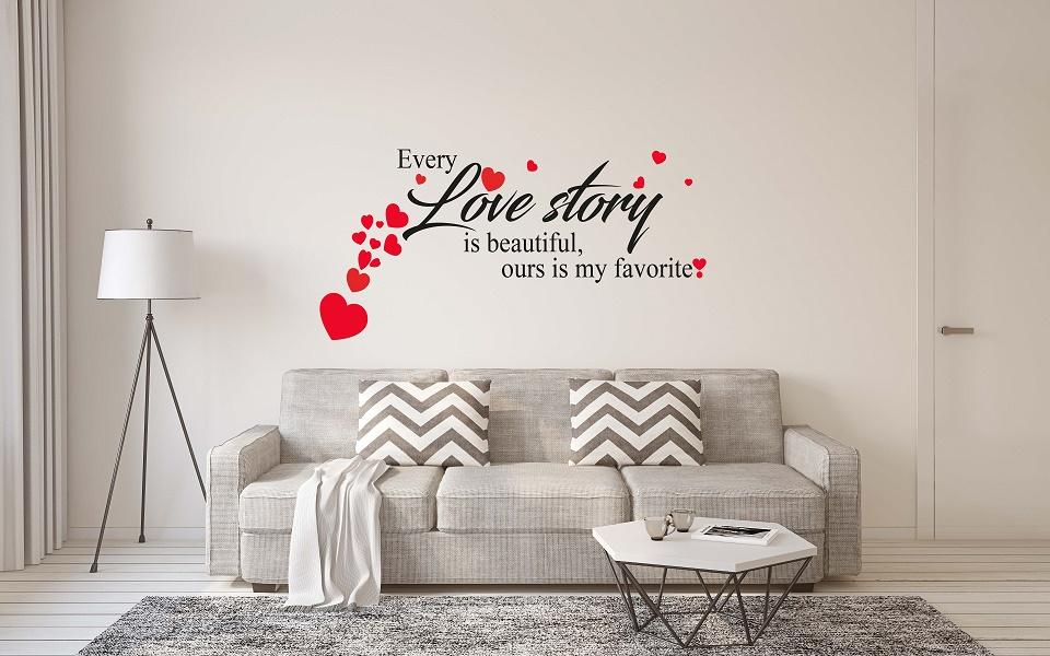 מדבקת קיר LOVE STORY