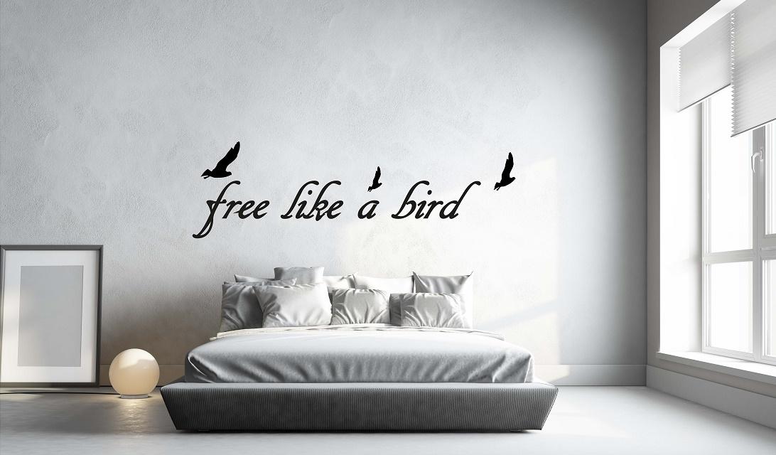 מדבקת קיר FREE LIKE A BIRD