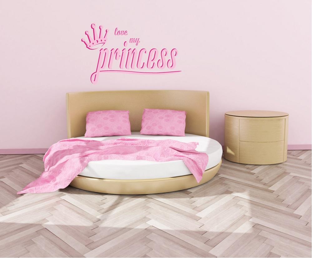 מדבקת קיר לחדרי ילדים נסיכה