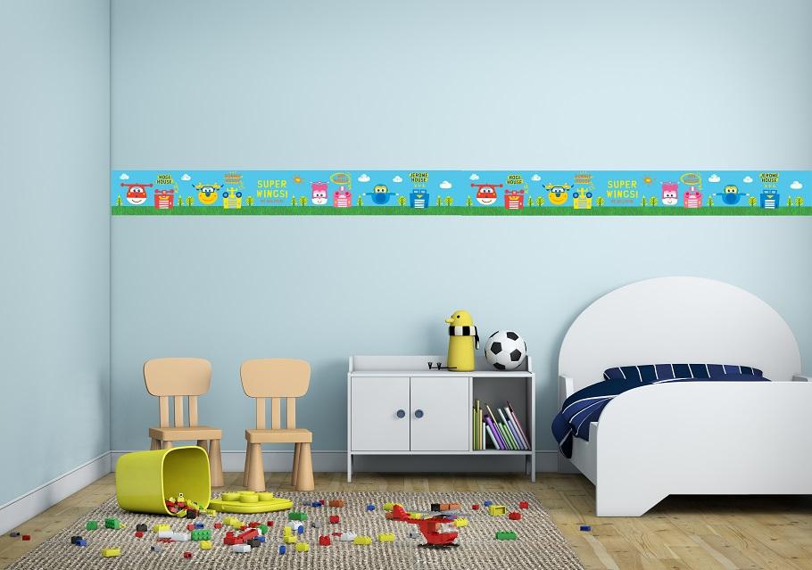 בורדר מטוסי עללחדרי ילדים  במבחר צבעים