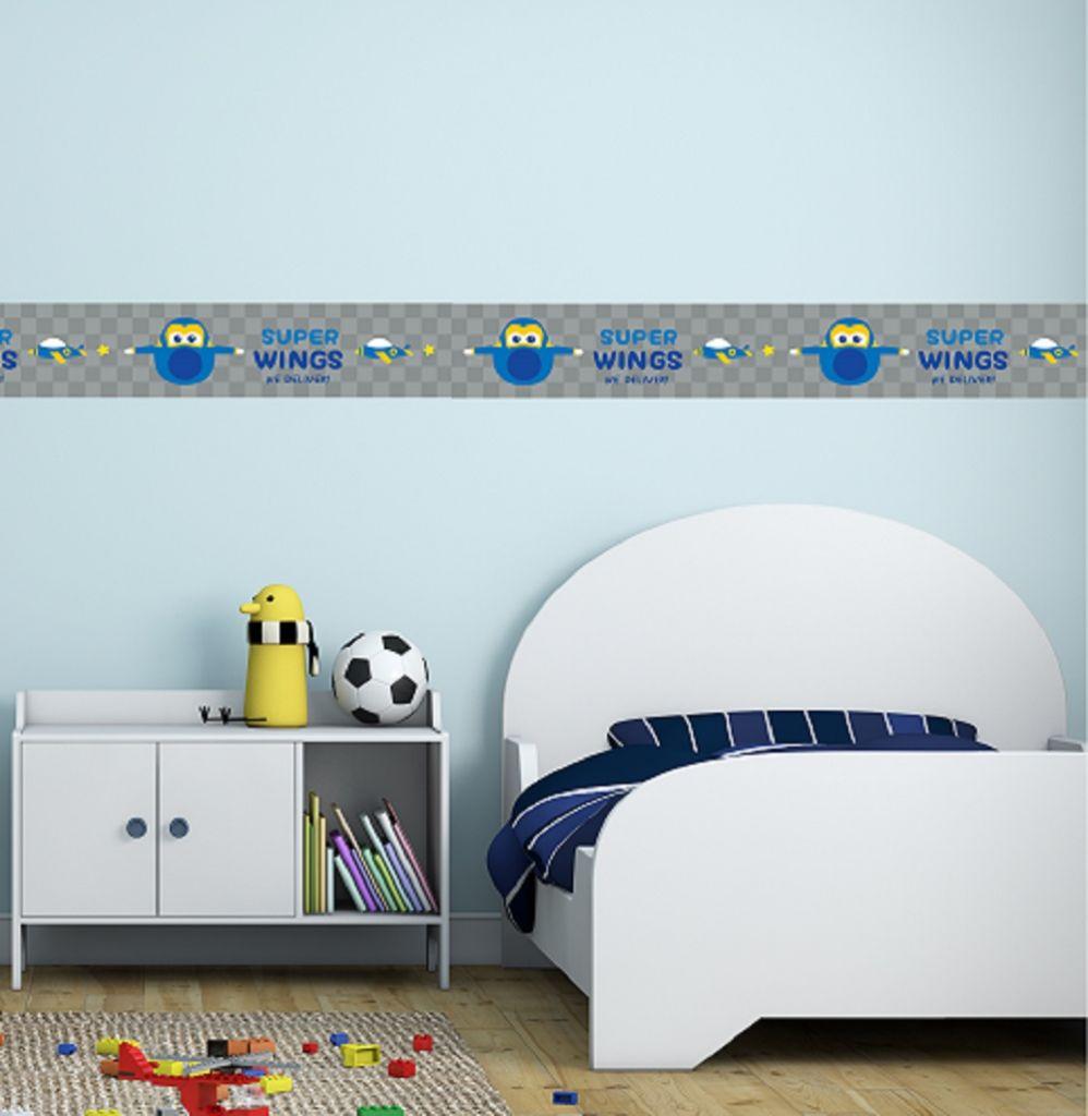 בורדרים מטוסי על במבחר צבעים לחדרי ילדים