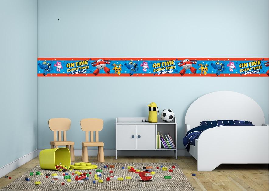 בורדר מטוסי על לחדרי ילדים