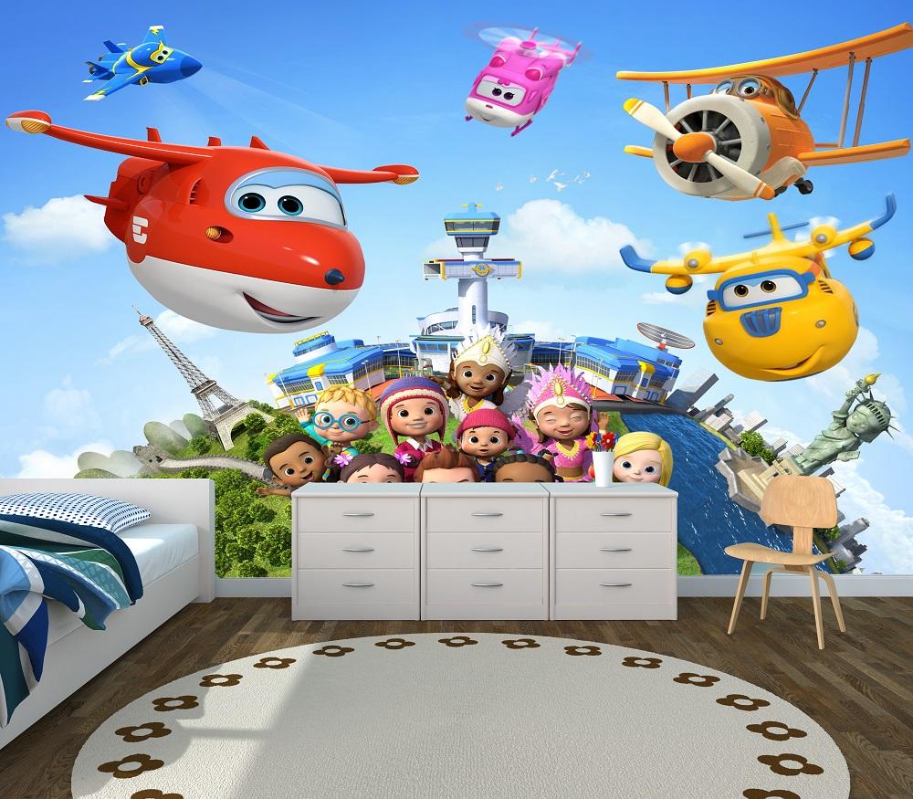 תמונת טפט מטוסי על לחדרי ילדים