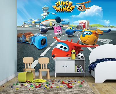 תמונת טפט לחדרי ילדים מטוסי על