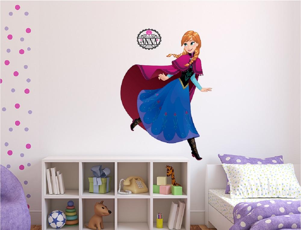 מדבקת קיר אנה לחדרי ילדים
