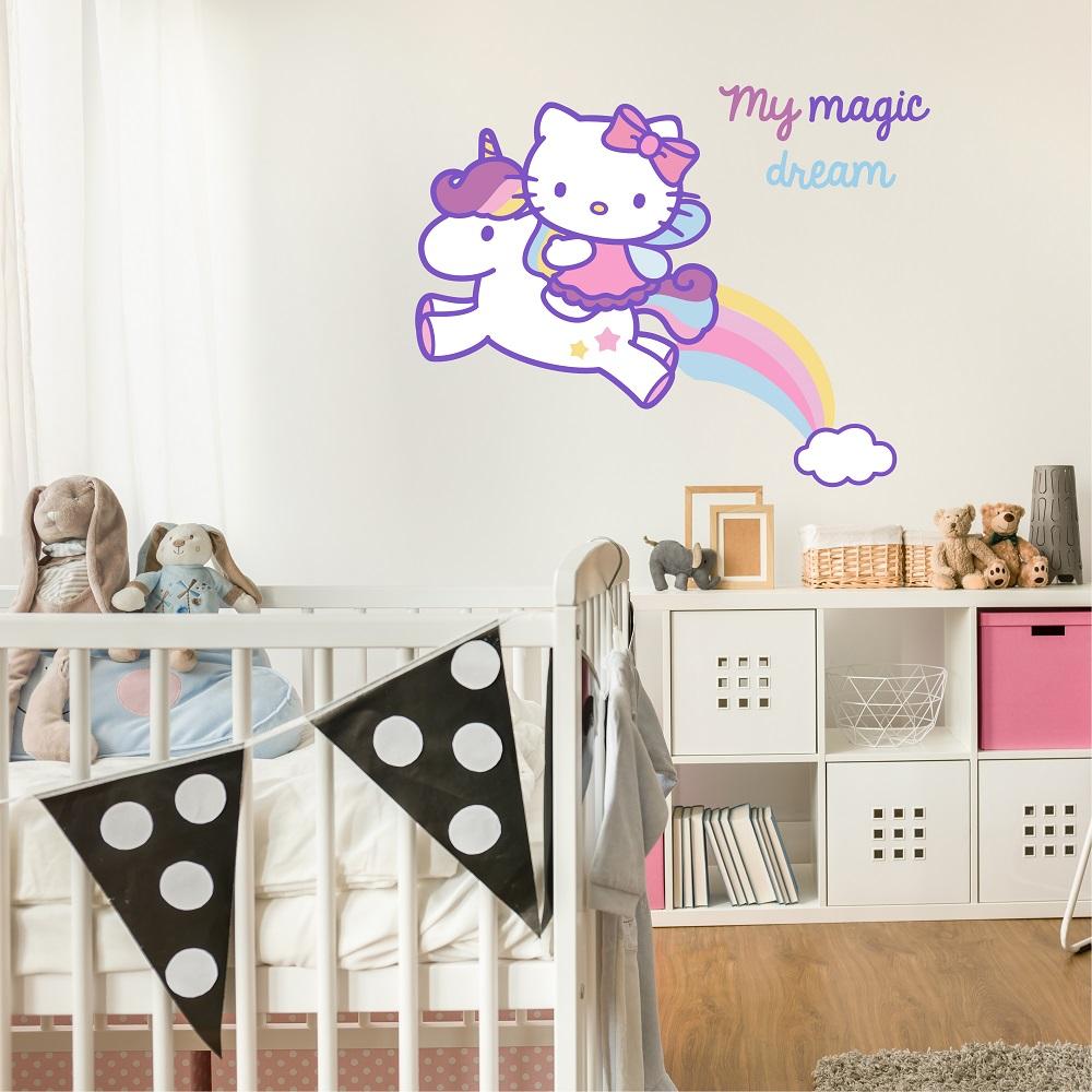 מדבקת קיר הלו קיטי לחדרי ילדים