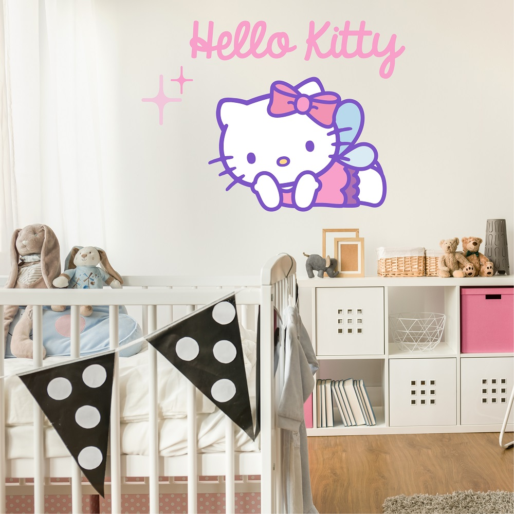 מדבקת קיר HELLO KITTY לחדרי ילדים