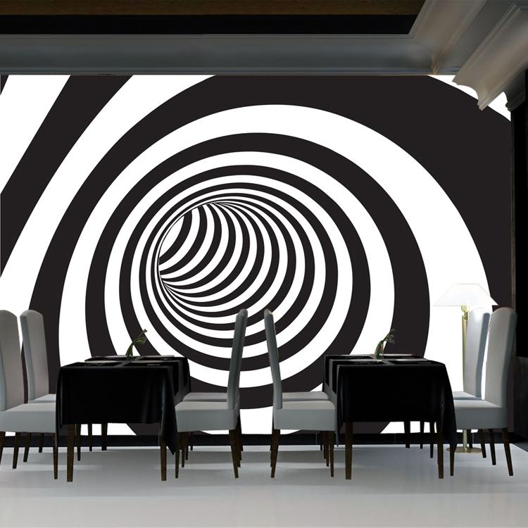 תמונת טפט תלת מימד שחור לבן