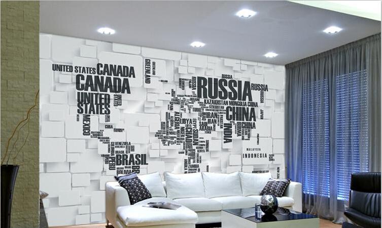 תמונת טפט תלת מימד מפת עולם