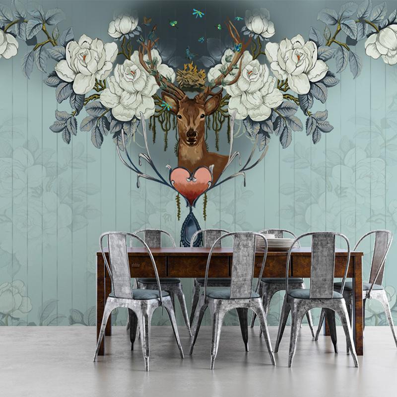 תמונת טפט קיר  תלת מימד בסגנון אמריקאי