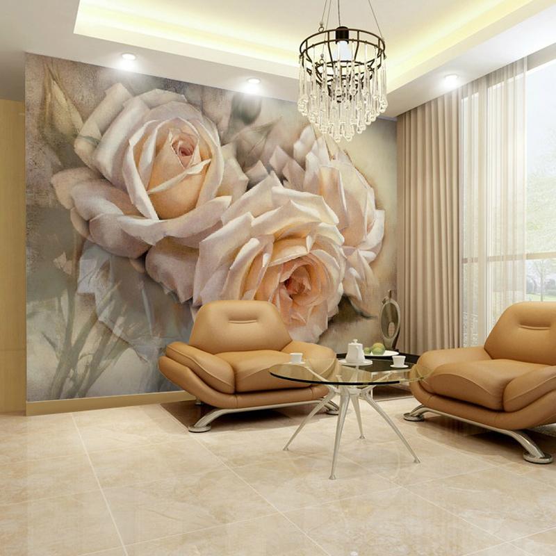 תמונת טפט קיר פרחים תלת מימד