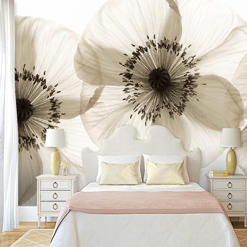 תמונת טפט קיר תלת מימד פרחים